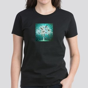 Dragonfly Glow Tree T-Shirt