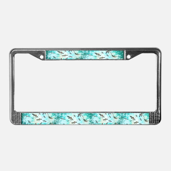 Dragonfly Glow Tree License Plate Frame