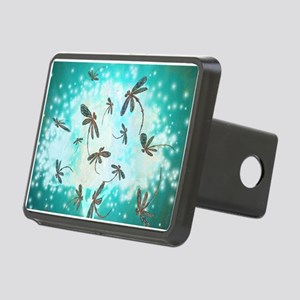 Dragonfly Glow Tree Rectangular Hitch Cover