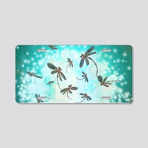 Dragonfly Glow Tree Aluminum License Plate