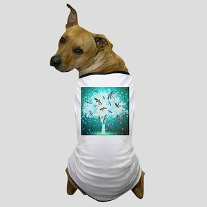 Dragonfly Glow Tree Dog T-Shirt