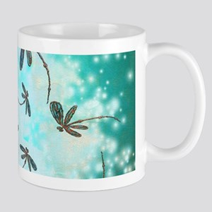 Dragonfly Glow Tree Mugs
