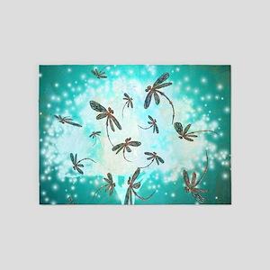 Dragonfly Glow Tree 5'x7'Area Rug