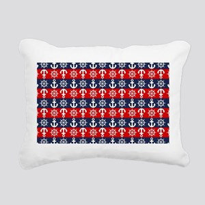Sporty Nautical Anchors Rectangular Canvas Pillow