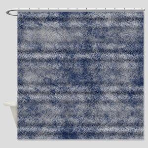 Faded Denim Shower Curtain