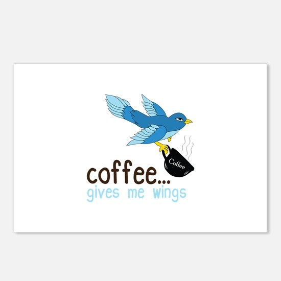 Coffee Gives Me Wings Postcards (Package of 8)