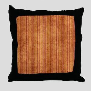 Orange And Purple Grunge Stripes Throw Pillow