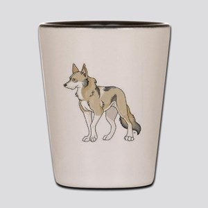 Tamaskan Dog Showing Club Logo Shot Glass