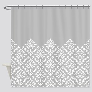 Baroque Damask Wg Part Pattern Shower Curtain