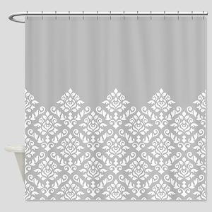 Baroque Damask Wg Part Pattern Shower Curtain