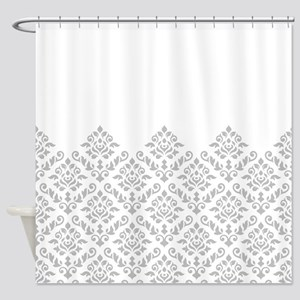 Baroque Damask Gw Part Pattern Shower Curtain