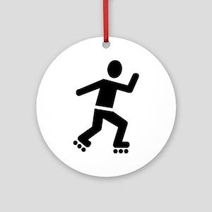 Inline Skating Ornament (Round)