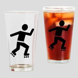 Inline Skating Drinking Glass