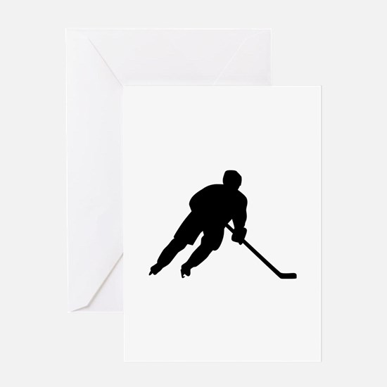 Hockey player Greeting Card