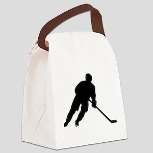 Hockey player Canvas Lunch Bag