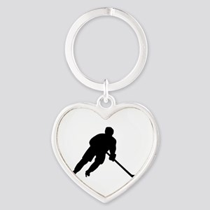 Hockey player Heart Keychain