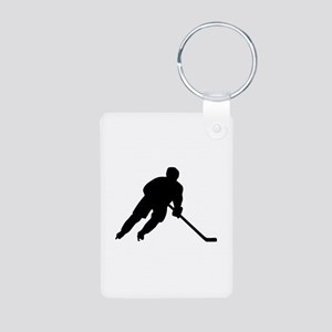 Hockey player Aluminum Photo Keychain