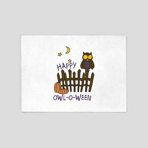 Happy Owl-O-Ween 5'x7'Area Rug