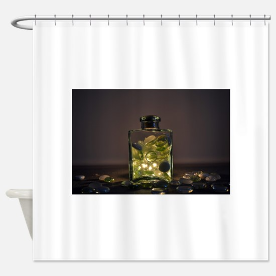 Light And Beads Shower Curtain
