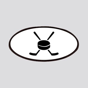 Crossed hockey sticks puck Patches