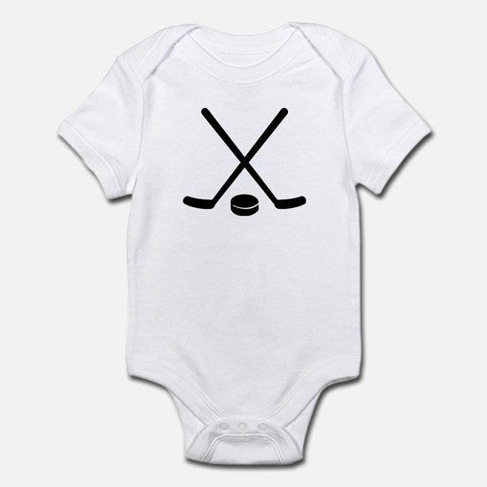 Hockey sticks puck Infant Bodysuit