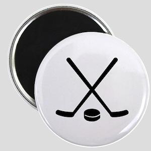 Hockey sticks puck Magnet