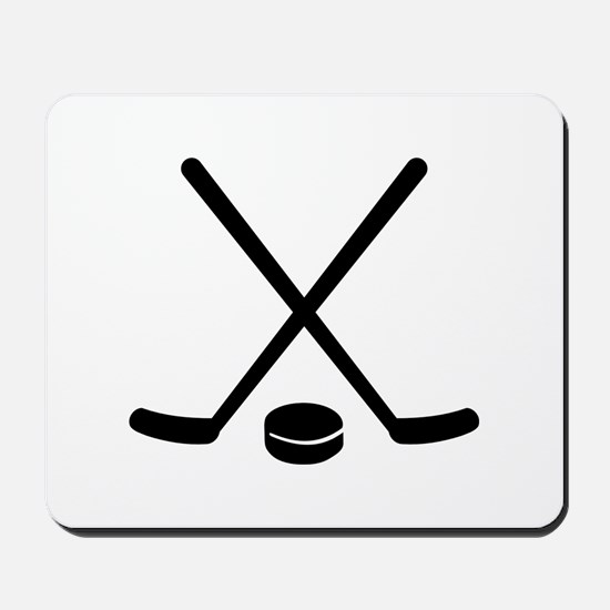 Hockey sticks puck Mousepad