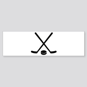 Hockey sticks puck Sticker (Bumper)