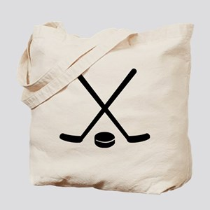 Hockey sticks puck Tote Bag