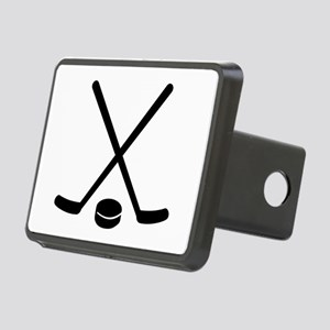 Hockey sticks puck Rectangular Hitch Cover
