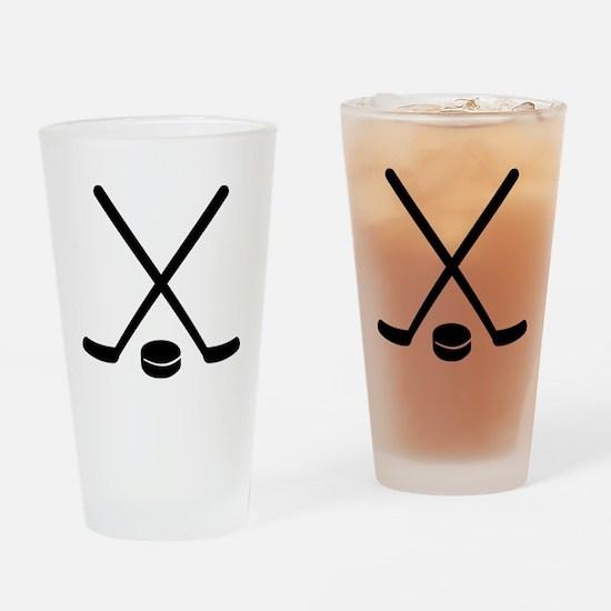 Hockey sticks puck Drinking Glass