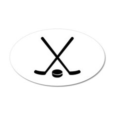 Hockey sticks puck Decal Wall Sticker