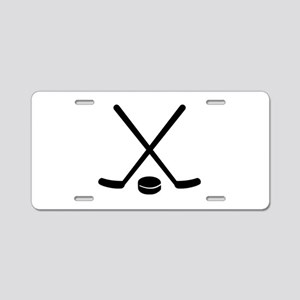 Hockey sticks puck Aluminum License Plate