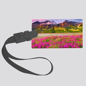 Mountains Large Luggage Tag