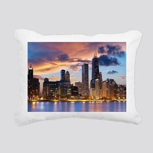 Chicago Rectangular Canvas Pillow