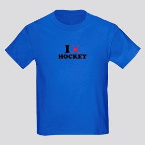 I love Hockey Kids Dark T-Shirt
