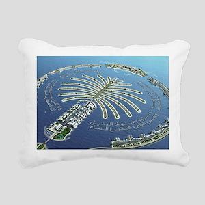 Dubai Lake Rectangular Canvas Pillow