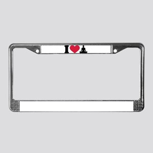 I love Yoga License Plate Frame