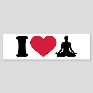 I love Yoga Sticker (Bumper)