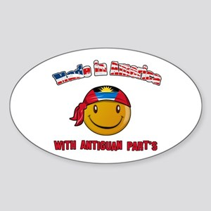 Made in America with Antiguan Oval Sticker