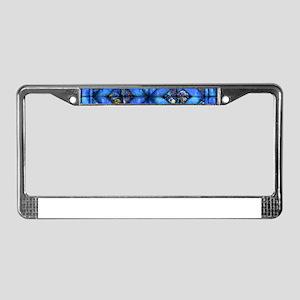 Blue Paisley Quilt License Plate Frame