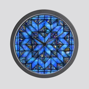 Blue Paisley Quilt Wall Clock