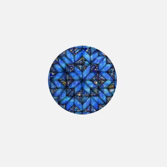 Blue Paisley Quilt Mini Button