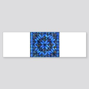 Blue Paisley Quilt Bumper Sticker