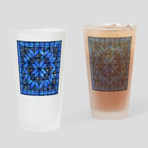 Blue Paisley Quilt Drinking Glass