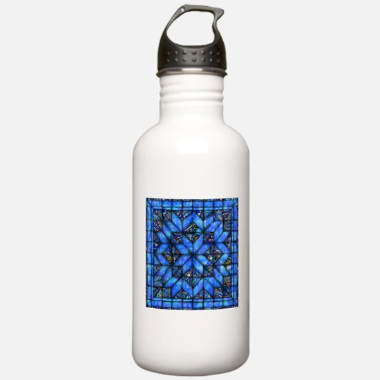 Blue Paisley Quilt Water Bottle
