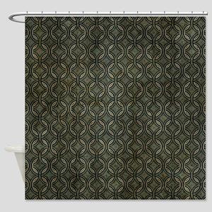 Grunge Stripes Shower Curtain