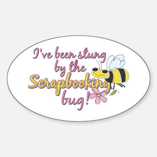 Scrapbooking Bug Sticker (Oval)