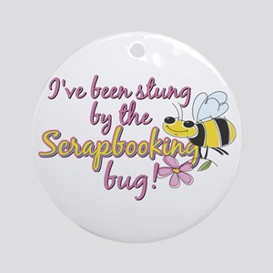 Scrapbooking Bug Ornament (Round)