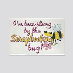 Scrapbooking Bug Rectangle Magnet